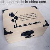 싼 관례는 포장 나무로 되는 선물 상자를 인쇄하는 로고를 도매한다