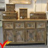Grande armoire rustique à 4 portes Affligée Recouvert fini Buffet en bois