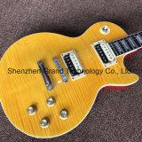 노란 상단 (GLP-516)에 있는 Lp 내리침 일렉트릭 기타