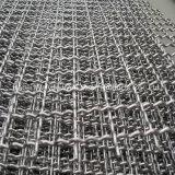 Квадратные декоративные соткана из нержавеющей стали Обжатый провод сетка
