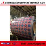 Hölzerne/Marmor-/Blumen-/Ziegelstein-Muster-Farbe beschichtete galvanisierten Stahlring PPGI/PPGL