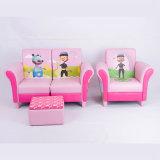 Muebles de cuero de la sala de estar de los niños del PVC del sofá casero
