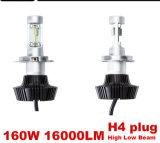 160W/Set 8000lm LED 헤드라이트 장비 광도 의 자동 LED 램프를 위한 고/저 광속 전구 6000k 일 백색 고성능 차 유행에 따라 디자인 하기