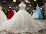 Cristal Aoliweiya Bodice Ombro largo vestido de casamento