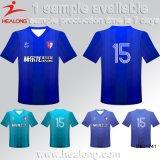 Healong personalizza la maglietta di stampa di sublimazione del commercio all'ingrosso dell'uomo degli abiti sportivi di disegno