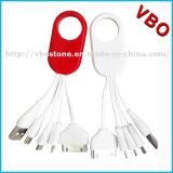 4 in 1 mini multi cavo di dati portatile del USB della catena chiave con l'anello chiave per il iPhone 5/5s/6/6s