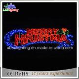 陽気なChiristmas LEDロープのモチーフの休日の装飾の文字ライト