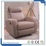 Projeto ajustado do único sofá moderno da sala de visitas da mobília do couro do sofá