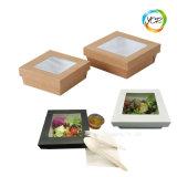 مربّع مفتوحة ورقيّة طعام يعبر وجبة خفيفة طبق أرز ياباني صندوق [سلد بوول]