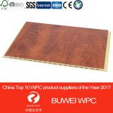 Панель плакирования 300*9mm стены поставкы WPC фабрики более зеленая деревянная