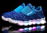 El último USB LED calza los zapatos luminosos de la luz de la zapatilla de deporte de la impresión (FF824-5)