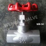 "DIN 1/2 ""CF8 Globe Valve 200lb avec volant"