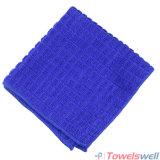 De blauwe Geruite Droogdoek van de Keuken Microfiber