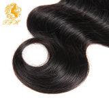 Закрытие части бразильского дюйма закрытия 4X4 шнурка объемной волны свободно с человеческими волосами Remy волос младенца