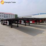 40FT 3개의 차축 판매를 위한 평상형 트레일러 거위 목 모양의 관 트레일러
