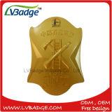 Emblema de bronze feito sob encomenda do Pin de metal do revestimento com seus próprios projeto