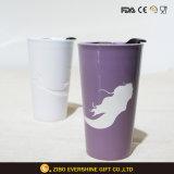 taza de cerámica de la taza de consumición de la decoración 16oz