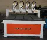 Router CNC máquina de corte mais baixo preço da madeira Machinry 1212 para mobiliário e pernas, molde, Publicidade