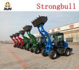 China Pequenas Mini 0,8 ton carregador frontal para venda
