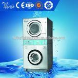 Lavadora e secadora de pilha comercial