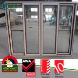 PVC diapositiva de madera / corredera abierta de Windows para Balcón