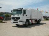 Caminhão de lixo comprimido quente dos desperdícios da venda HOWO com tamanho do tanque 15m3
