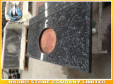 Bancadas do granito da pérola da fábrica e partes superiores azuis diretas da vaidade