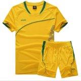 짧은 소매 축구 축구 훈련 t-셔츠는 Quick-Dry 운영하는 Sportsuit를 주문을 받아서 만든다