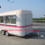 Европейский стандарт Mobile фритюрницы питание тележки с колесами Hot Dog тележки