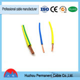 Alambre aislado PVC multitorónico del cable del AWG 14 Thhn de la sola base, cable del AWG 12 Thw, acceso de Ningbo Shangai