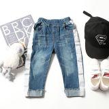 Scratch Lavar Kid crianças calças jeans com o lado branco Striped