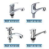 Robinet sanitaire de bassin de taraud de mélangeur de l'eau d'articles de zinc chaud de vente de l'Amérique du Sud (KY8121)