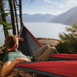 Double Personのための二重Hammock Portable Leisure Outdoor Camping Survival Parachute Cloth Hammock