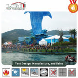 luxe van 5X5m paste de Hoge Piek Waterdichte Tent van de Partij van Gazebo van het Aluminium aan