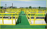 Sistema de grande resistência do corrimão de FRP/GRP com câmara de ar quadrada