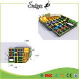 Парк Trampoline спорта высокого качества привлекательный Multi с взбираясь стеной