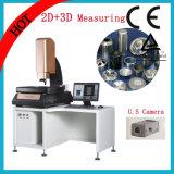 2D Ручная видео- измеряя машина с таблицей металла