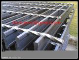 La puerta de rejilla de acero galvanizado Mat