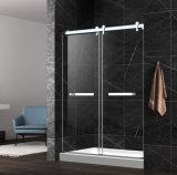 シャワーを滑らせるステンレス鋼の上のローラー