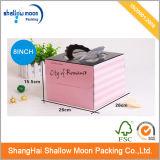 분홍색 카드 서류상 인쇄 케이크 수송용 포장 상자 (QY150399)