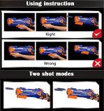 10 PCS Soft Bulletの2207037-Semi-Automatic Safe Toy Shooting Gun + 10 PCS Suction Cup Bullet Set