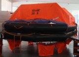 Solas-Marine-geöffnetes umschaltbares aufblasbares Rettungsfloß