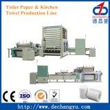 El tejido de pequeñas empresas automático de la línea de producción de papel