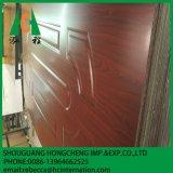 Peau de peau de porte de forces de défense principale de mélamine/en bois de papier de placage de porte