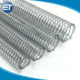 Anti-UV en PVC transparent Anti-Chemical fil flexible du tuyau en acier renforcé