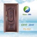 Copper Color Nigeria et Soudan Popular Steel Security Door (FD-512)