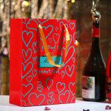 Mooie Rode High-End van de Zak van de Gift van de Zak van de Gift van de Zak van de Gift van de Zak van het Document van de Zak van de Zak van de Verpakking van het Vakje van het Suikergoed van het Huwelijk Douane