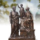 Decoração Reigious Bronze Escultura Estátua da Sagrada Família