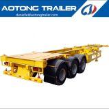 Transporte de contenedores esquelético del árbol de la buena calidad 3 semi/acoplado del carro