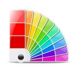 Cartão de contraste de cor de Pó Químico